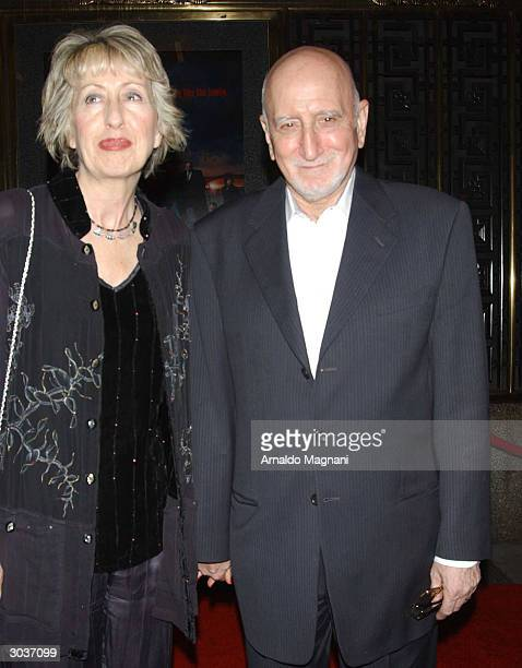 Actor Dominic Chianese and his wife Jane Pittson attend the premiere of The Sopranos at Radio City Music Hall March 2 2004 in New York City