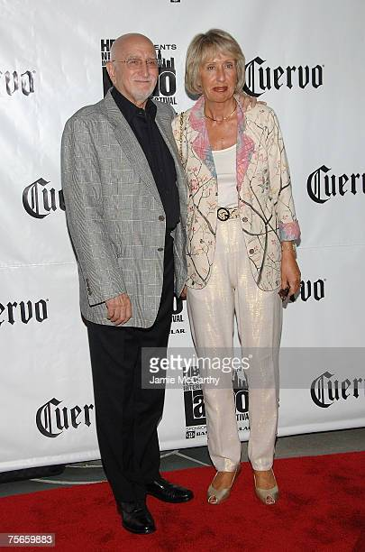 Actor Dominic Chianese and Jane Pittson arrives during the premiere of Adrift in Manhattan at Florence Gould Hall on July 25 2007 in New York City