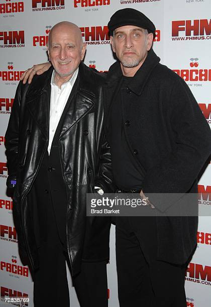 Actor Dominic Chianese and son Dominic Chianese Jr attend the the oneyear Anniversary of Pacha at Pacha night club on December 16 2006 in New York...