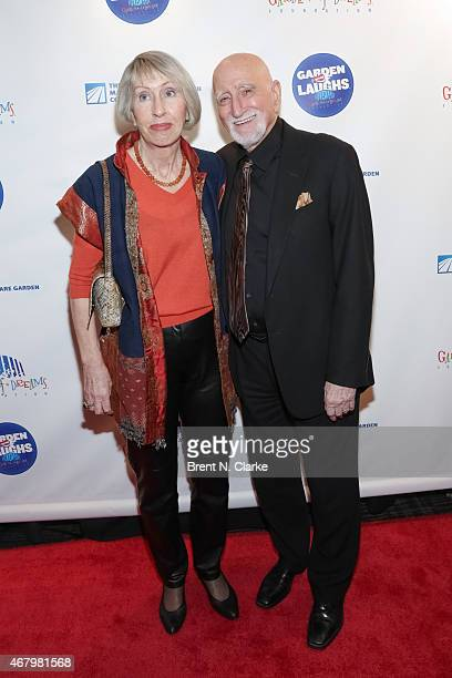 Actor Dominic Chianese and wife Jane Pittson arrive for the 2015 Garden Of Laughs Comedy Benefit at the Club Bar and Grill at Madison Square Garden...