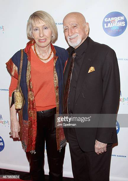 Actor Dominic Chianese and wife Jane Pittson attend the 2015 Garden Of Laughs Comedy Benefit at the Club Bar and Grill at Madison Square Garden on...