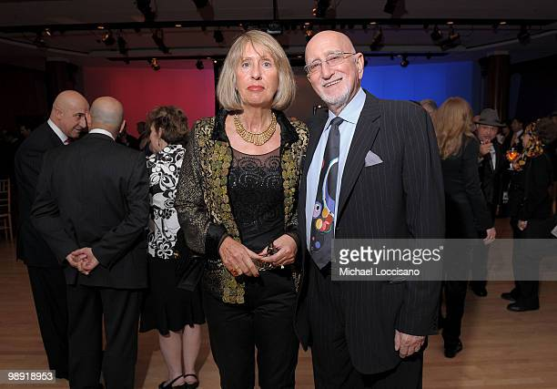Actor Dominic Chianese and wife Jane Pittson attend the precelebration reception for the 25th annual Ellis Island Medals Of Honor Ceremony Gala at...