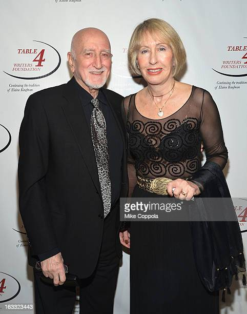 Actor Dominic Chianese and wife Jane Pittson on March 7 2013 in New York City