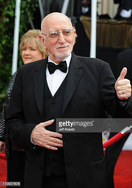 Actor Dominic Chianese arrives to the 14th Annual Screen Actors Guild Awards at the Shrine Auditorium on January 27 2008 in Los Angeles California
