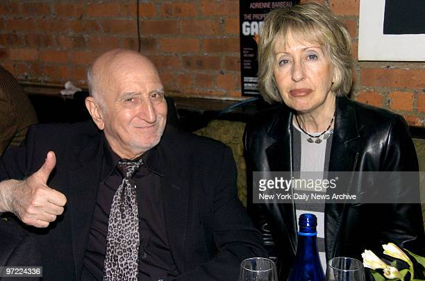 Actor Dominic Chianese gives a thumbsup as he and his wife Jane PittsonChianese attend an afterparty at Garage restaurant in Greenwich Village...