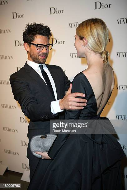 """Actor Dominic Cooper and Dree Hemingway attend the """"Picturing Marilyn"""" Exhibition opening with a screening of """"My Week With Marilyn"""" at Milk Studios..."""