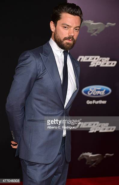 """Actor Dominic Cooper arrives for the premiere of DreamWorks Pictures' """"Need For Speed"""" at TCL Chinese Theatre on March 6, 2014 in Hollywood,..."""