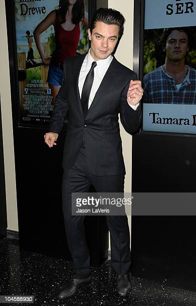 Actor Dominic Cooper attends a screening of 'Tamara Drewe' at Pacific Design Center on September 30 2010 in West Hollywood California