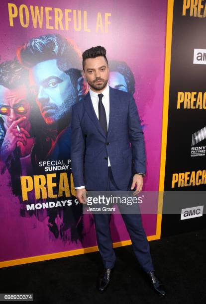 Actor Dominic Cooper attends AMC's Preacher Season 2 Premiere at the Theater at the Ace Hotel on June 20 2017 in Los Angeles California