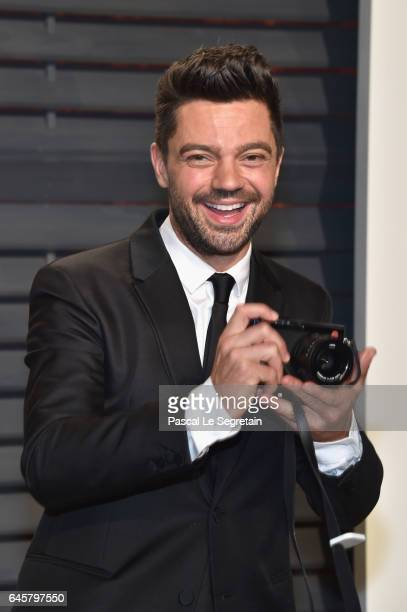 Actor Dominic Cooper attends the 2017 Vanity Fair Oscar Party hosted by Graydon Carter at Wallis Annenberg Center for the Performing Arts on February...