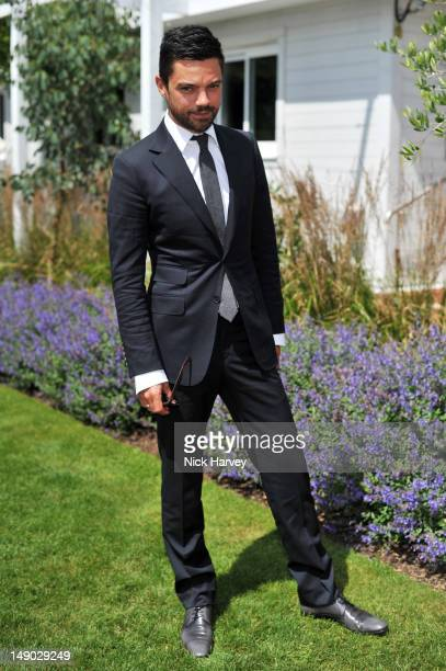 Actor Dominic Cooper attends the Audi International polo at Guards Polo Club on July 22 2012 in Egham England