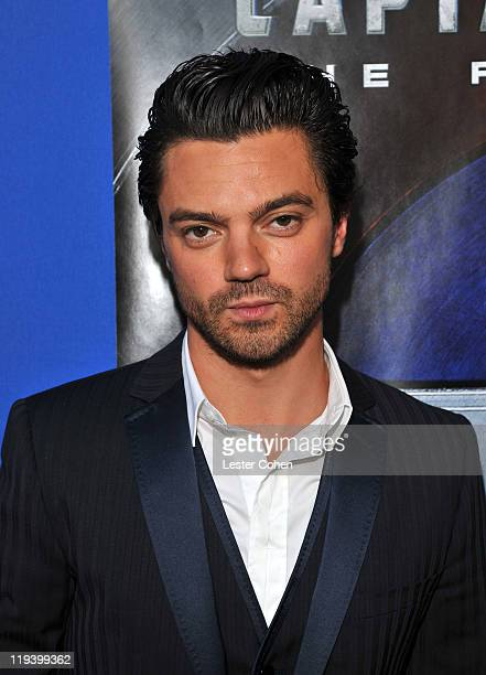 Actor Dominic Cooper attends the Captain America The First Avenger Los Angeles Premiere at the El Capitan Theatre on July 19 2011 in Hollywood...