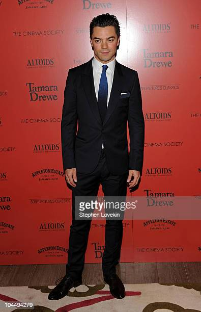 """Actor Dominic Cooper attends the Cinema Society and Altoids's screening of """"Tamara Drewe"""" at the Crosby Street Hotel on September 27, 2010 in New..."""