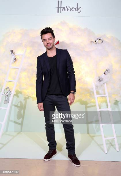Actor Dominic Cooper attends the Harrods Shoe Heaven Launch Party at Harrods on September 16 2014 in London England