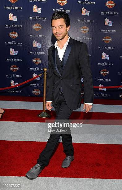 Actor Dominic Cooper attends the Los Angeles Premiere of Captain America The First Avenger at the El Capitan Theatre on July 19 2011 in Hollywood...