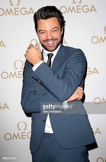 Actor Dominic Cooper attends the Omega Oxford Street Store Opening Party at The Shard on December 10 2014 in London England