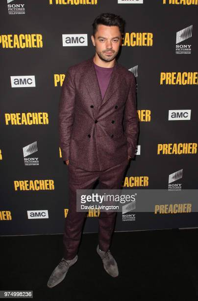 Actor Dominic Cooper attends the premiere of AMC's Preacher Season 3 at The Hearth and Hound on June 14 2018 in Los Angeles California