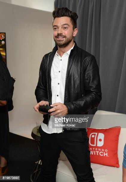 Actor Dominic Cooper from the television series 'Preacher' stopped by Nintendo at the TV Insider Lounge to check out Nintendo Switch during ComicCon...
