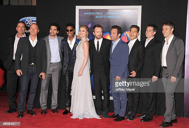 Actor Dominic Cooper producer Patrick O'Brien actors Michael Keaton Ramon Rodriguez Scott Mescudi Imogen Poots Aaron Paul director/executive producer...