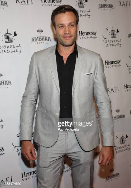 Actor Dominic Leeder attends the media night preview of BROKEN Code BIRD Switching at S Feury Theater on November 16 2019 in Los Angeles California