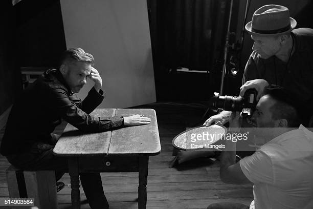 Actor Dominic Monaghan is seen behind the scenes at the Getty Images SXSW Portrait Studio powered by Samsung on March 11, 2016 in Austin, Texas.