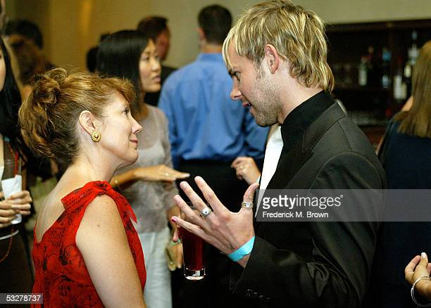 Actor Dominic Monaghan of Lost is interviewed at the 21st Annual Television Critics Association cocktail reception at the Beverly Hilton Hotel on...