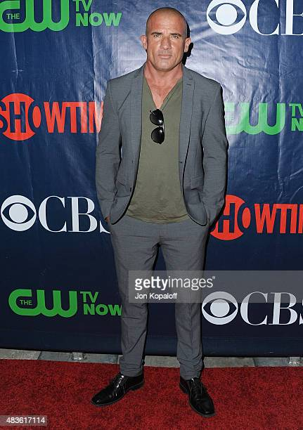 Actor Dominic Purcell arrives at CBS CW And Showtime 2015 Summer TCA Party at Pacific Design Center on August 10 2015 in West Hollywood California