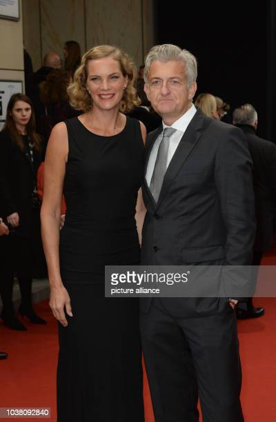 Actor Dominic Raacke and his girlfriend Alexandra Rohleder arrive at the GQ men of the year awards show in Berlin Germany 5 November 2015 PHOTO...