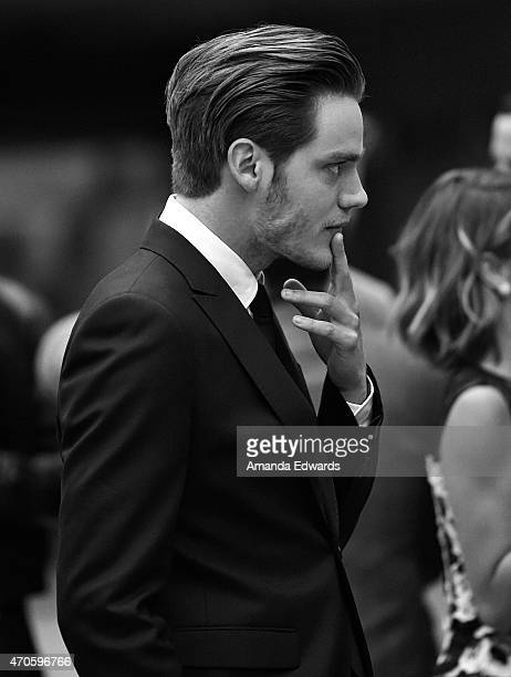 """Actor Dominic Sherwood arrives at the Los Angeles premiere of """"See You In Valhalla"""" at the ArcLight Cinemas on April 21, 2015 in Hollywood,..."""