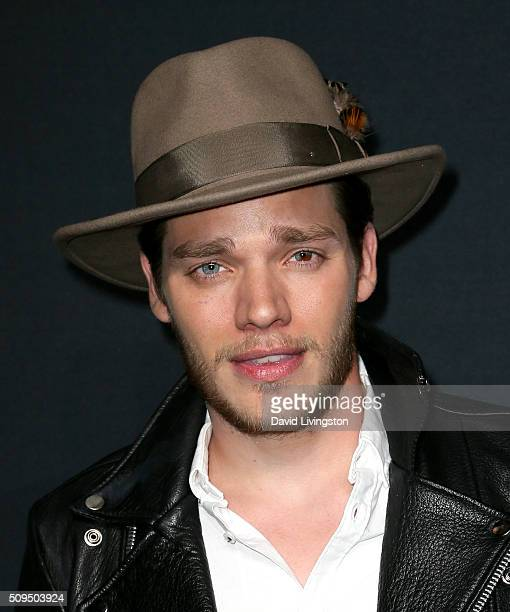 Actor Dominic Sherwood attends Saint Laurent at Hollywood Palladium on February 10 2016 in Los Angeles California