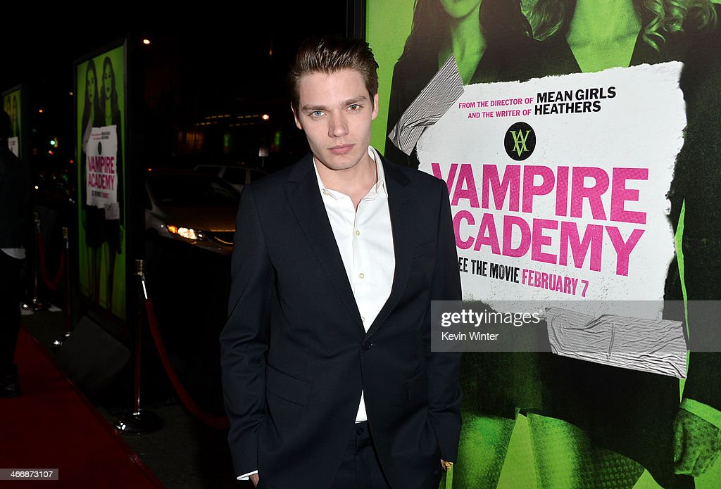 Actor Dominic Sherwood attends the premiere of The Weinstein Company's 'Vampire Academy' at Regal Cinemas L.A. Live on February 4, 2014 in Los Angeles, California.
