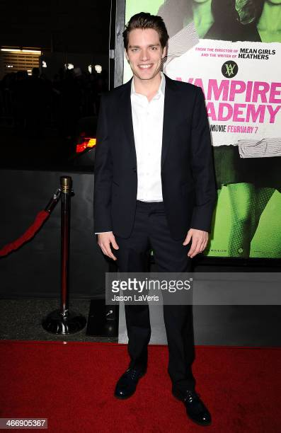 Actor Dominic Sherwood attends the premiere of 'Vampire Academy' at Regal Cinemas LA Live on February 4 2014 in Los Angeles California