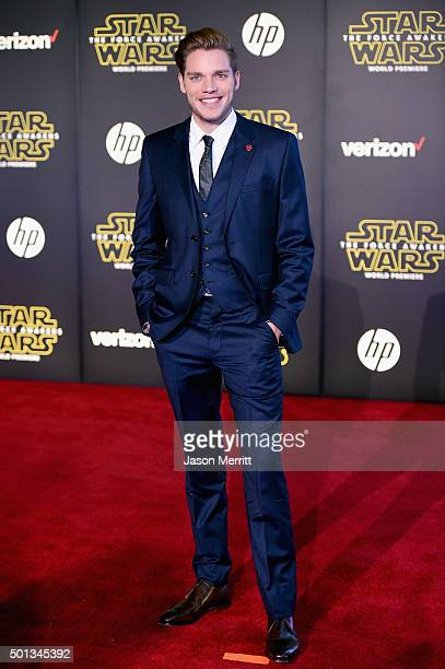 Actor Dominic Sherwood attends the premiere of Walt Disney Pictures and Lucasfilm's Star Wars The Force Awakens at the Dolby Theatre on December 14th...