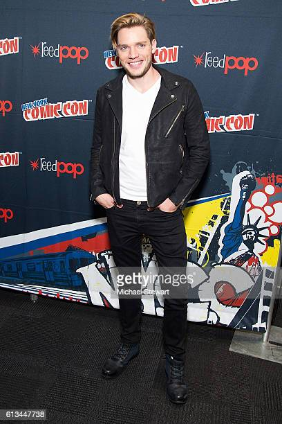 Actor Dominic Sherwood attends the Shadowhunters Season 2 QA press room during 2016 New York Comic Con at the Jacob Javitz Center on October 8 2016...