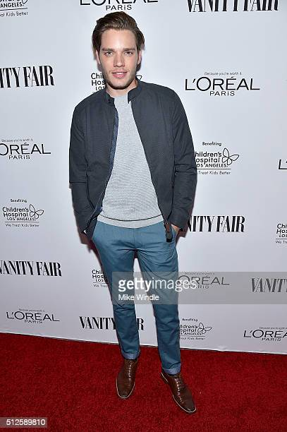 Actor Dominic Sherwood attends Vanity Fair L'Oreal Paris Hailee Steinfeld host DJ Night at Palihouse Holloway on February 26 2016 in West Hollywood...