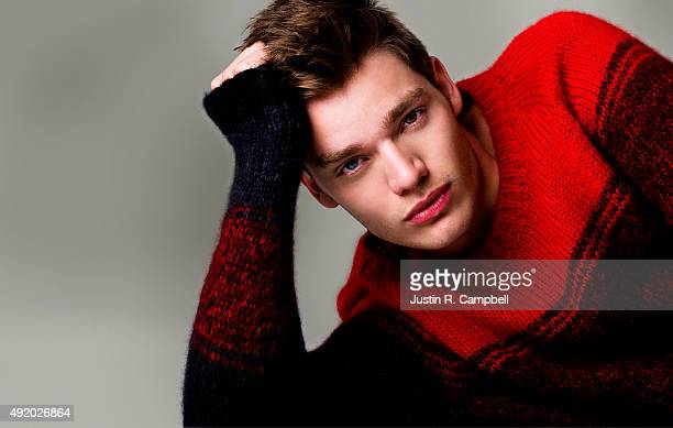 Actor Dominic Sherwood is photographed for Just Jared on September 27 2013 in Los Angeles California