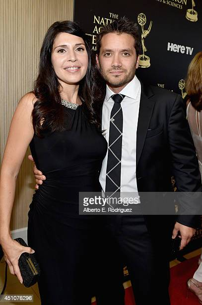 Actor Dominic Zamprogna and guest attend The 41st Annual Daytime Emmy Awards at The Beverly Hilton Hotel on June 22 2014 in Beverly Hills California