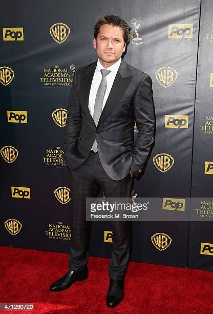 Actor Dominic Zamprogna attends The 42nd Annual Daytime Emmy Awards at Warner Bros Studios on April 26 2015 in Burbank California
