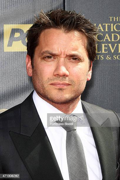 Actor Dominic Zamprogna attends the 42nd annual Daytime Emmy Awards held at Warner Bros Studios on April 26 2015 in Burbank California