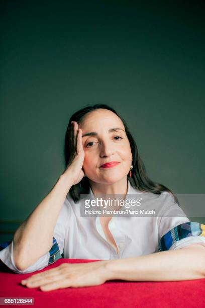 Actor Dominique Blanc is photographed for Paris Match on May 3 2017 in Paris France