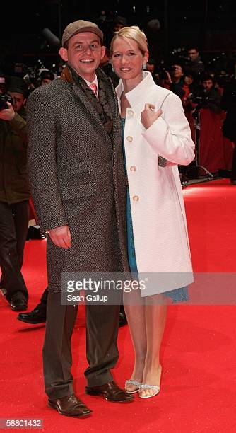 Actor Dominique Horwitz and Anna Wittig attend the Opening Night of the 56th Berlin International Film Festival on February 9 2006 in Berlin Germany