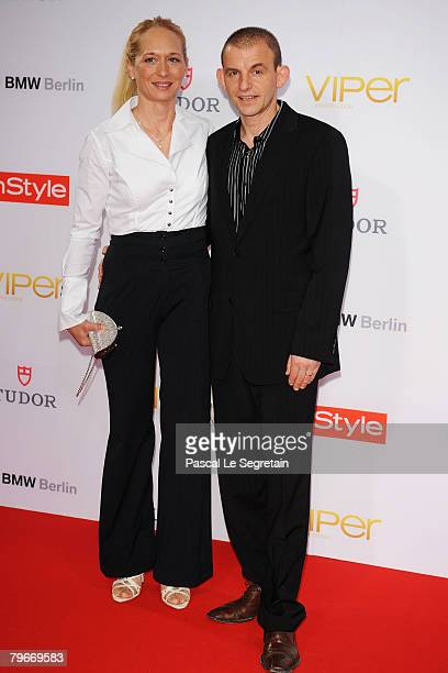 Actor Dominique Horwitz and Anna Wittig attend the Viper Awards at the Palais am Festungsgraben on February 8 2008 in Berlin Germany
