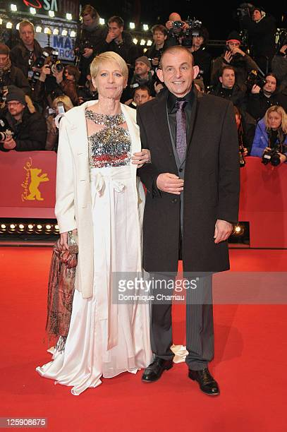 Actor Dominique Horwitz and partner Anna Wittig attend the 'True Grit' Premiere during the opening day of the 61st Berlin International Film Festival...