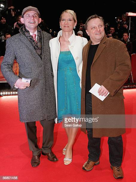 Actor Dominique Horwitz with his Anna Wittig and actor Axel Prahl attend the Opening Night of the 56th Berlin International Film Festival on February...