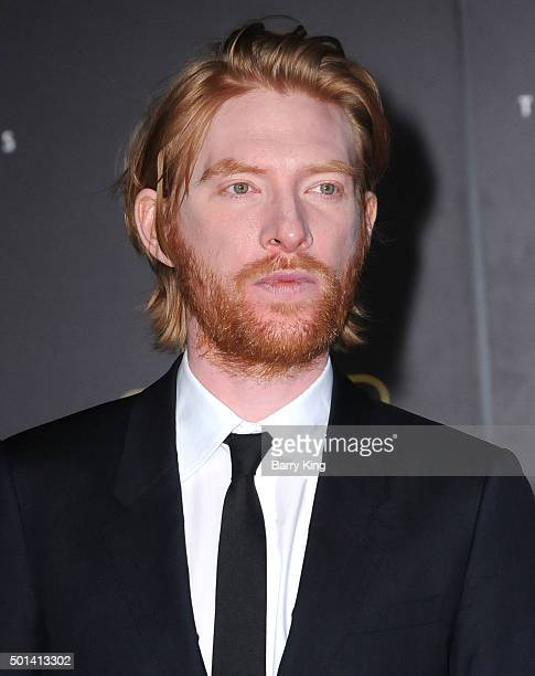 Actor Domnhall Gleeson attends the Premiere of Walt Disney Pictures and Lucasfilm's 'Star Wars The Force Awakens' on December 14 2015 in Hollywood...