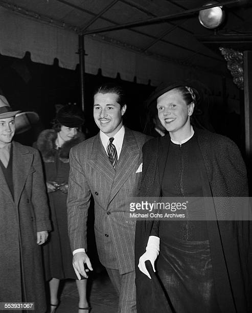 Actor Don Ameche and actress Nora Eddington attend an event in Los Angeles California
