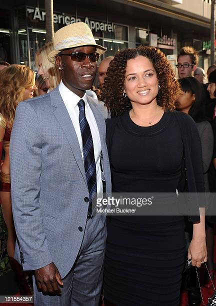 Actor Don Cheadle and actress Bridgid Coulter arrive at the world wide premiere of Iron Man 2 Premiere held at the El Capitan Theatre on April 26...