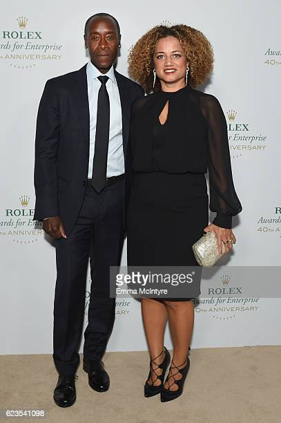 Actor Don Cheadle and actress Bridgid Coulter attend the 2016 Rolex Awards for Enterprise at the Dolby Theatre on November 15 2016 in Hollywood...