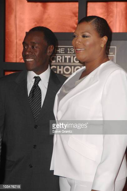 Actor Don Cheadle and actress Queen Latifah arrive at the 13th ANNUAL CRITICS' CHOICE AWARDS at the Santa Monica Civic Auditorium on January 7, 2008...
