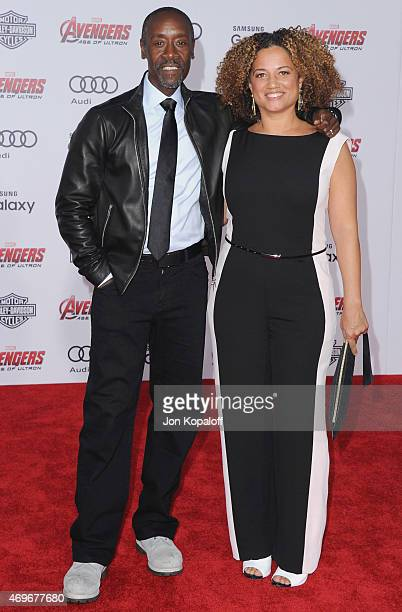 Actor Don Cheadle and Bridgid Coulter arrive at the Los Angeles Premiere Marvel's Avengers Age Of Ultron at Dolby Theatre on April 13 2015 in...